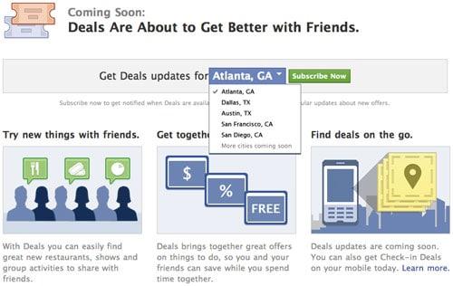 Facebook Deals et l'achat groupé