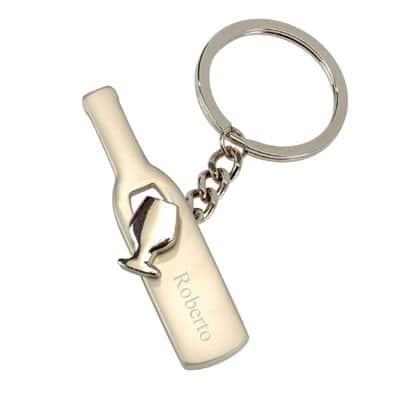Porte-clé bouteille personnalisé