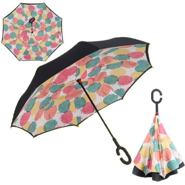 parapluie inversé à motifs