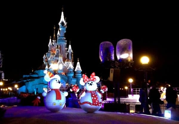 la magie de Noël à Disneyland